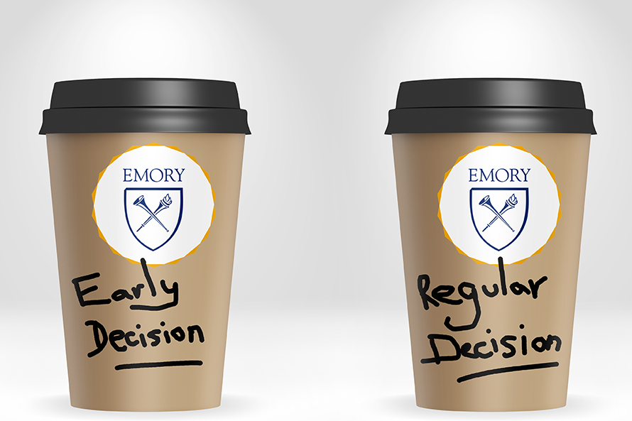 coffee cups with ED  and RD written on them