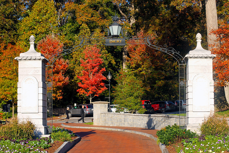 Fall colors with Emory Gate