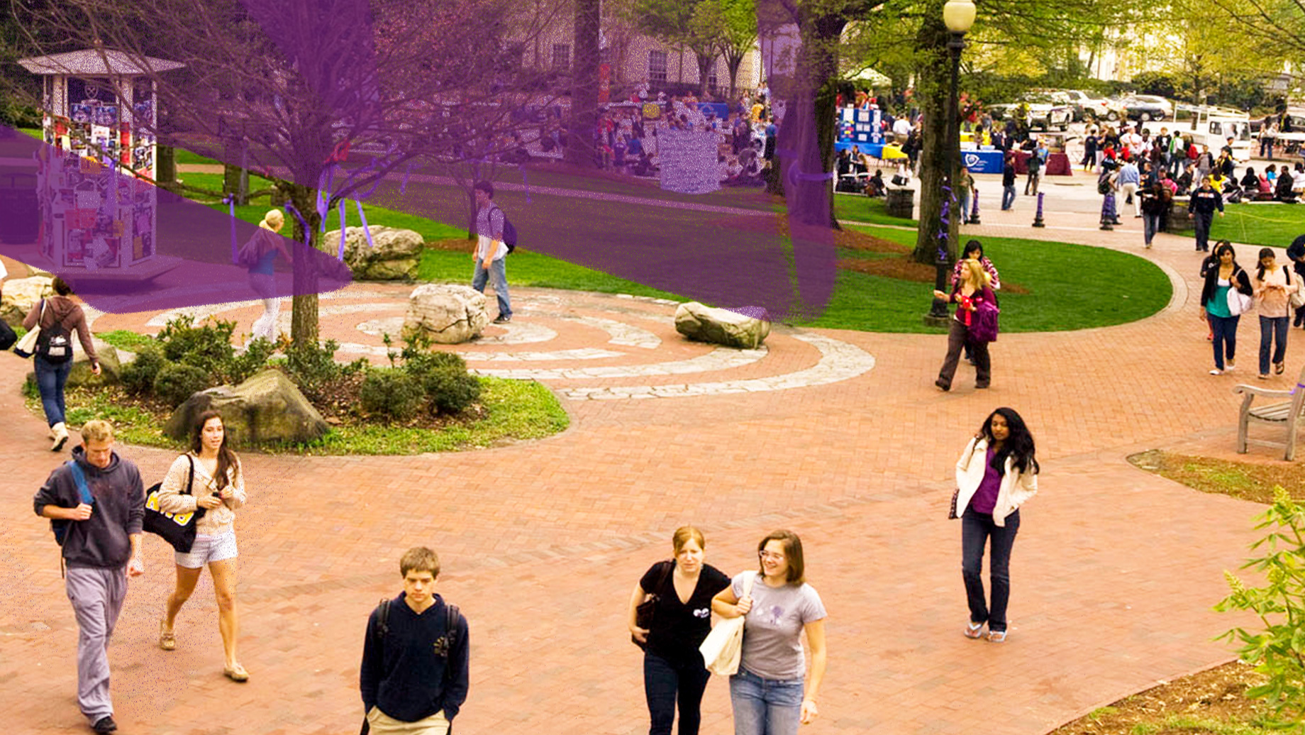 students walking on ATL campus