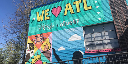 one of ATL's many outdoor murals
